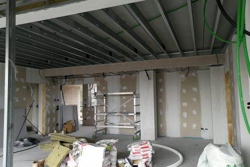 Work in progress pavimenti, pareti in cartongesso a Soiano