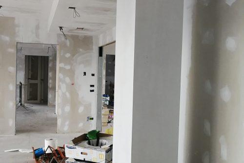 Pareti in cartongesso a Soiano - work in progress