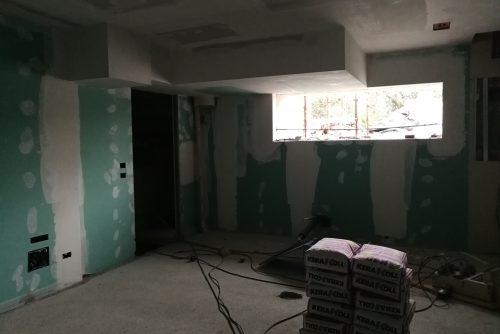 Work in progress pareti in cartongesso Bellini Soiano