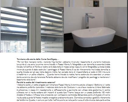 """Intervento di ristrutturazione sito in Via Dante (Brescia) realizzato con strutture a secco. Foto concesse da """"Qui Brescia Magazine"""""""