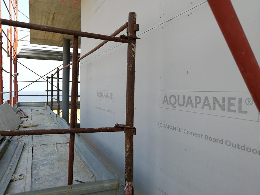 Parete idrorepellente Aquapanel